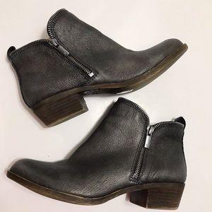NWOT Lucky Brand Bartolino Doubke zipper Boots